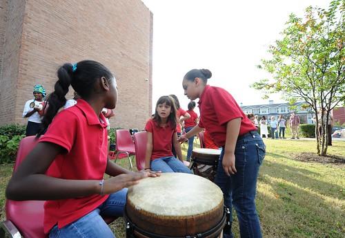 Wharton K-8 Dual Language Academy drummers