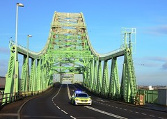 Heavy Load (Whitto27) Tags: bridge car transport police heavy load escort abnormal runcorn widnes