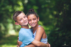 (Rebecca812) Tags: family boy portrait people cute love girl childhood kids forest canon children togetherness twins hug child friendship sweet sister brother happiness bond rebecca812