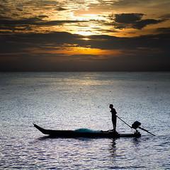 Fishing port (kevinkishore) Tags: pier water seascape sea serene serenity boat boatman fishing fisherman fishermen sunrise morning dawn clouds sky light color people life routine kasimedu chennai india