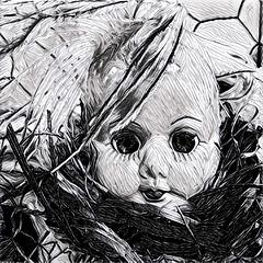 Twisted Dolls (arckphoto) Tags: dolls iphone6s prisma weird unusual twisted