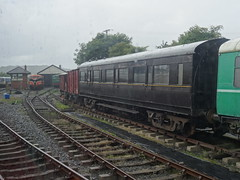 Downpatrick, 10th of July 2016 (nathanlawrence785) Tags: county ireland abbey station train ir coach inch track gallery carriage cathedral diesel box stock railway down steam generator and brake coaching van ie northern railways plough craven boiler tarp ballast nir pw halt eireann cie mk1 728 downpatrick 10ton 3223 3189 iarnrod stabled downrail dcdr woodenbodied