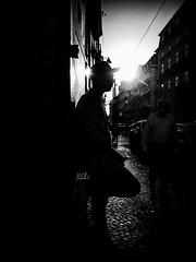 Chiado (damonjah) Tags: lisbon bnw black white street streetphotography streetlife image photo city portugal monochrome mono dark urban