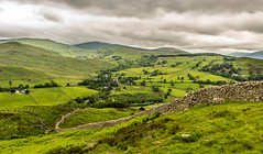 Patchwork Countryside. (ian.emerson36 (off for a week, going camping)) Tags: countryside hills greenery wall stonework clouds lakedistrict ullswater hiking fields cumbria canon 1855mm