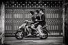 Three Guys on a Motorbike #0188-2 (svenpetersen1965) Tags: bangkokstreet alley fence motorbike motorcycle street transport ขนส่ง รถมอเตอร์ไซค์ bangkok krungthepmahanakhon thailand th