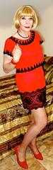 DSC07668 (msdaphnethos) Tags: crossdresser transvestite heels blonde red vintagelingerie nylon pantyhose blacklace daphnethomas