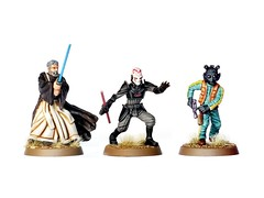 Obi-Wan Kenobi, Grand Inquisitor and Greedo (upsidedown98) Tags: starwars fantasyflightgames ffg imperialassault miniatures 28mm xwing painting