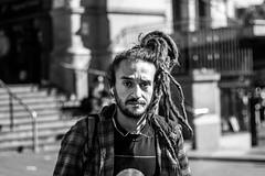 At the train station (julieabreu.photography) Tags: melbourne melbournephotographer candid citylife city hippie portrait blackandwhite bw streetphoto street streetphotography australia aussie