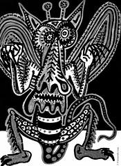 Cor de monstre 03 (Fernando Laq) Tags: monster monstruo monstre dibujo dibuix bn grises