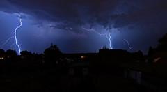 Thunderstorm over Berlin (PLADIR) Tags: gewitter thunderstorm blitze blitz lightning outdoor nacht nachtaufnahme night nightscene berlin unwetter sturm storm clouds wolken sony sonya57 slta57