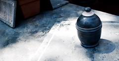 Prayer Urn (Zee Jenkins) Tags: urn vase shadows prayers stone artisan