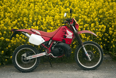 L1008460c (haru__q) Tags: leica m8 leitz summicron field mustard  honda crm250r motorcycle 2st