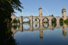 Cahors Valentre bridge (andreytfc) Tags: cahors valentre bridge reflection