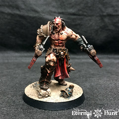 Angron Thal'Kr, Lord of the Red Sands (2) (KrautScientist) Tags: 30k horusheresy worldeaters gladiator conversion kitbash angron primarch lord red sands