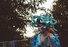 medusa (2.stops) Tags: people leute lcheln smile stilts stelzen colors farben costume kostm blue makeup blau snake schlangen lichterfest festival lights lichter westfalia westfalenpark westfalen northrhine nordrhein nrw germany deutschland dortmund canon 760d