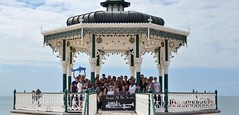 2016-08-14: Out To Sea (psyxjaw) Tags: brighton swing dance swingdancing dancing weekend jumpingattheseaside jumping seaside jats bandstand band stand beach