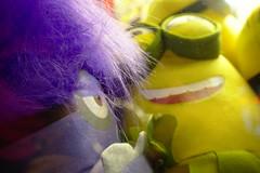 Opposing Minions (Rich Renomeron) Tags: olympusmzuiko1442mmf3556ez olympusomdem10 arcade bethanybeach prizes stuffedanimals