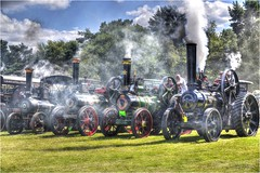 All steamed up . (Alan Burkwood) Tags: cromford steam fair traction engines