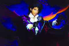 Prince (Johnny Silvercloud) Tags: arizona canon canon5dmarkiii graffiti landscape legend lightroom5 mural outdoor prince urbanfragments blue colors daytime murals musician painting purple spraypaint wall wallart