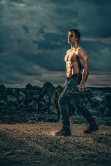 Jarkko (hyeenus) Tags: jarkko bodybuilging quadra war muscles tuovinen elinchrome gun ranger apocalypse