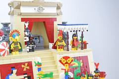 The Huey Tlatoani and his Snake Woman (Cuahchic) Tags: lego aztecs temple sacrifice duel foitsop minifig mesoamerica priest