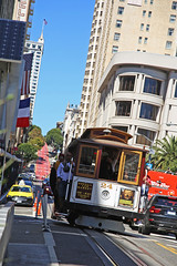 Powell Street Cable Car (Hawkeye2011) Tags: california usa 2016 powellstreet sanfrancisco transport cablecar railway