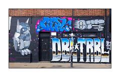 Graffiti (Fanakapan, Cept, Dscreet), East London, England. (Joseph O'Malley64) Tags: cept trp dscreet burningcandy dbltrbl fanakapan graffiti streetart eastlondon eastend london england uk britain british greatbritain wall walls brickwork blockwork wallmural murals muralists door doorway step gaspipe drainpipe lamppost concrete conduit windows sign signage aerosol cans spray paint gradient incline