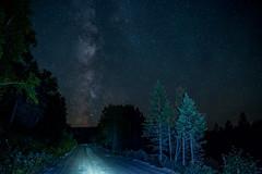 La Voie Lacte au bout du chemin... (Benoit Riendeau Photographie) Tags: milkyway voie lacte sky stars toiles ciel