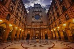 The main entrance of the Santa Maria de Montserrat Abbey in the Montserrat Mountain in Catalonia, Spain (CamelKW) Tags: barcelona catalonia spain mainentrance santamariademontserrat abbey montserrat mountain