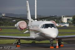 9H-VMK Cessna 560XL Citation XLS Luxwing Glasgow airport EGPF 20.08-16 (rjonsen) Tags: business jet corporate plane airplane aircraft glasgow airport egpf juliet area