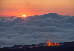 Sun set on Piton de la Fournaise. (dave_poth) Tags: