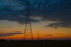 Western Skies (ramseybuckeye) Tags: putnam county ohio sunset sundown pentax art life sky clouds western skies electric lines high voltage tension pylons towers grid