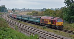 67028 5Z94 Burton - Euston passes Wellingborough 20.09.2016 (pokeyphoto) Tags: class67 67028 skip ews dbcargo footex wellingborough