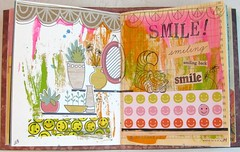 Junk Journal #15 (Lydia's Post) Tags: junkjournal journal artjournal journalpages collage mixedmedia smile paperart scrapart