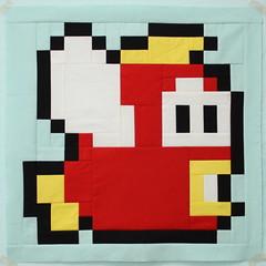 Mario Cheep Cheep Fish (so happy!) Tags: fish quilt brothers handmade mario quilting bros along kona kaufman cheep