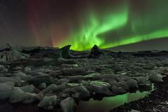 Aurora Borealis I (Kristinn R.) Tags: ice iceland nikon lagoon auroraborealis jkulsrln d3x nikonphotography breiamerkursandur kristinnr
