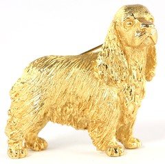 "L40. Trifari ""Cocker Spaniel"" Brooch"