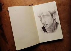 (thepici) Tags: portrait selfportrait art moleskine pencil self sketch artwork drawing sketchbook draw egri thepici