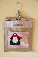 Portapigiama per la cameretta dei bambini (OltreversoLab) Tags: tilda pinguino cucitocreativo portapigiama cucitocreativodinatale
