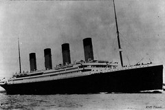RMS Titanic Ship .. The Ship of Dreams. (mrvisk) Tags: old picture image passenger sunk history doom crows nest boat sea legend white star line ocean liner pic mrvisk 1910s outdoor attraction proud unsinkable blackandwhite water