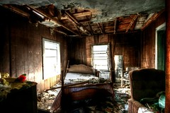 abandoned house - bedroom (Jhawk) Tags: old usa house abandoned home rose rural bedroom texas country forgotten dilapidated jren