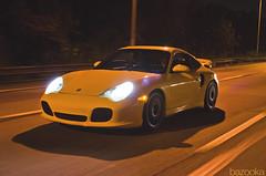 SpoolBus (Porsche 911 Turbo) (BazookaPhotography) Tags: city philadelphia yellow downtown centercity wheels 911 center turbo porsche bazooka philly hre hrewheels spoolbus bazookaphoto homebuiltkiller