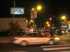 IMG_1735_TowerDistrict (niiicedave) Tags: night traffic wideshot fresno citylights pedestrians crosswalk centralcalifornia towerdistrict towertheatre chickenpieshop