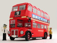 Routemaster (1) (Mad physicist) Tags: bus london model lego british routemaster figures