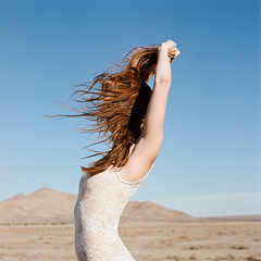 (zachmccaffree) Tags: 120 film girl analog mediumformat hair eva desert brooke