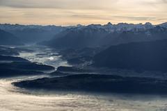 from Switzerland to Austria (PhiiiiiiiL) Tags: morning sun mist mountain alps berg fog austria schweiz switzerland österreich nikon day nebel suisse alpen sonne morgen kasten appenzell oesterreich hoher innerrhoden mygearandme mygearandmepremium mygearandmebronze mygearandmesilver mygearandmegold d800e