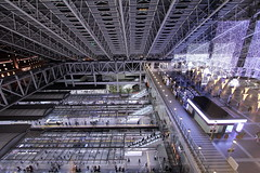 JR Osaka station (Takashi K. A) Tags: christmas city winter light building station japan night train japanese cityscape view platform illumination railway trains jr kansai umeda osaka