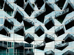 BIG. Mountain Dwellings #10 (Ximo Michavila) Tags: blue shadow urban house abstract reflection building geometric window glass lines metal architecture copenhagen denmark big graphic perspective repetition balconies cph archidose mountaindwellings archdaily archiref