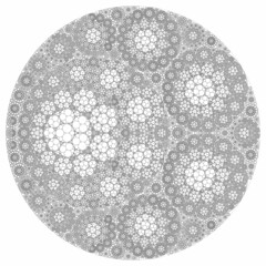 Filling by Circles (fdecomite) Tags: circle packing chain gasket steiner imagej apollonian apollonius newapolloniangasket5591