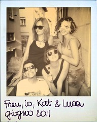old friendz (sabbisabb) Tags: old friends glass sunglasses polaroid mask balcony
